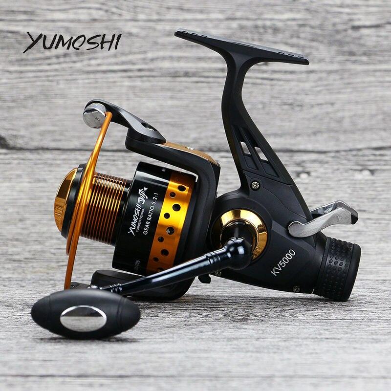 yumoshi 13 1bb kv30 80 pesca carpa carretel de pesca bobina dupla arrastar moulinet fiacao de
