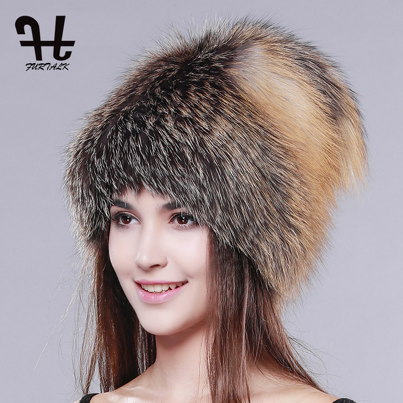 FURTALK women winter fur hat genuine fox fur hats knitted silver fox fur caps female russian luxury fashion fur hat for women сумка bottega veneta 367639v00165362 bv 2014