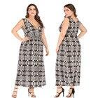5xl summer sleeveless v neck snake print maxi dresses for women Plus Size Dresses For Women 4XL 5XL 6XL