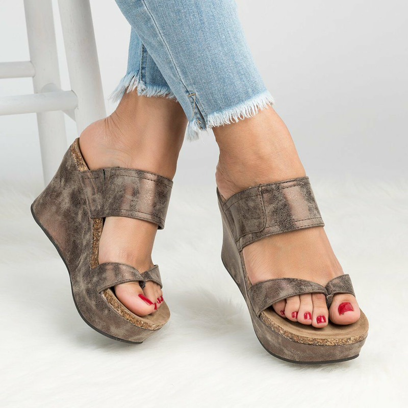 Buy Wedges Sandals Summer Style Platform Gladiator Sandals Slip-On Shoes For Woman Casual Shoes Woman Flip Flops Slipper Size 35-43 for only 18.99 USD