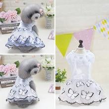 Blue Pink Pet Dog Princess Tulle Dress for Small Medium Dog Pet blue dog