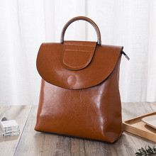 201 spring and summer new shoulder  female Korean wave backpack leather fashion womens cowhidebag