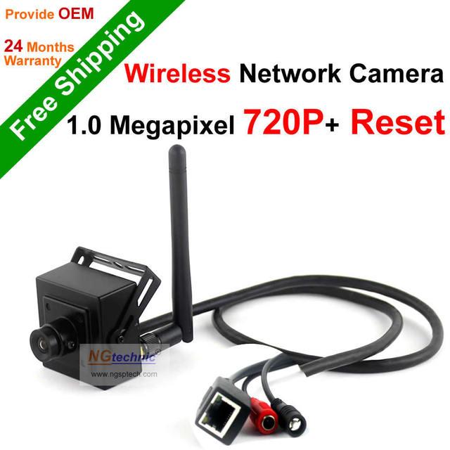 Donphia inalámbrica onvif 720 p hd 1.0mp mini cámara del ip del wifi de interior Soporte de La Cámara de red IP P2P Móvil Alejado de la visión + Botón de Reinicio