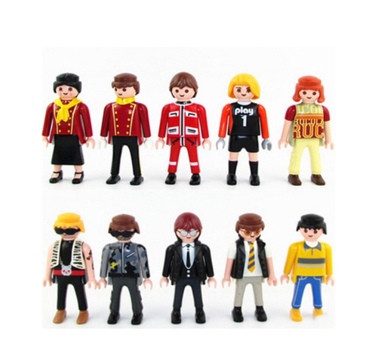 1PC Playmobil Figures Toys Original Mini Bricks Pirates Knights Police Blocks Brinquedos Christmas Children Gifts Playmobil Toy