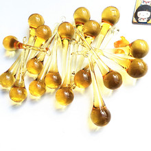 Chandelier-Prism Raindrop Pendant Hanging Glass Home-Decoration Gold 20x80mm 10pcs Top-Quality