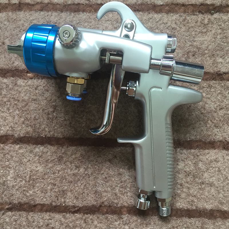 SAT1189 professional tool hvlp spray gun wall painting furniture air gun for painting chrome paint gun sat1189 free shipping dual head spray gun paint spray gun air compressor silver mirror chrome spray gun hvlp