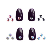 1 Box Colorful 3D Jelly AB Acrylic Wheel Nail Stickers Decoration DIY Nail Art Tips Jewelry Rhinestones Manicure tools