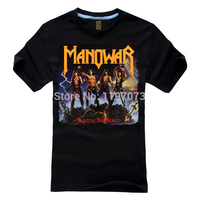 Free Shipping Fighting The World Manowar Cover Heavy Metal Power Metal Men S Black T Shirt