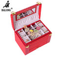 Woven Pattern Jewelry Storage Organizer Rings Necklace Bracelet Display Box Jewellery Carrying Case Multilayer Storage Container