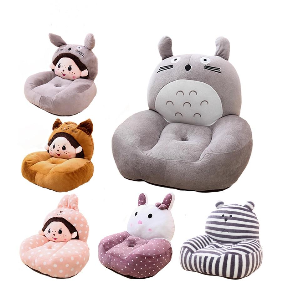 Animal bean bag chairs for kids - Cartoon Beanbag Plush Animal Sofa Chair Cute Little Baby Single Sofa Washable Plush Toys For Children
