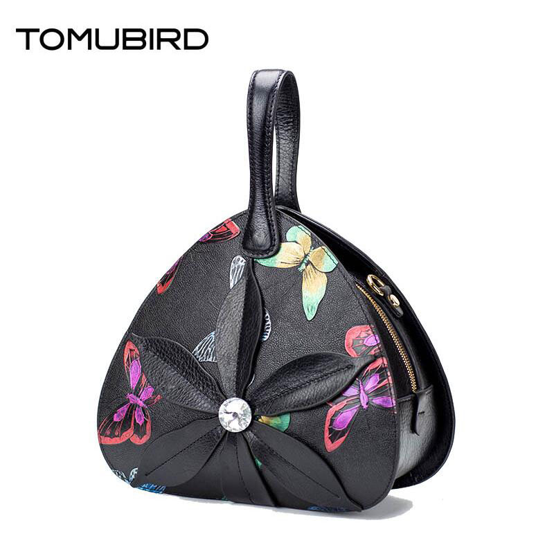 TOMUBIRD superior genuine leather designer brand women bags fashion Butterfly embossed Real leather Personalized luxury handbags