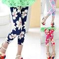 2016 Fashion Girls Skinny Pencil Pants legging Floral ,kids Slim Printing Leggings 13 colors baby girl leggings, girls pants1pcs