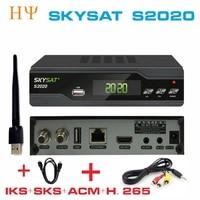 [Genuine] SKYSAT S2020 Twin Tuner Satellite Receiver IKS SKS ACM IPTV M3U H.265 most stable server Full HD Channels