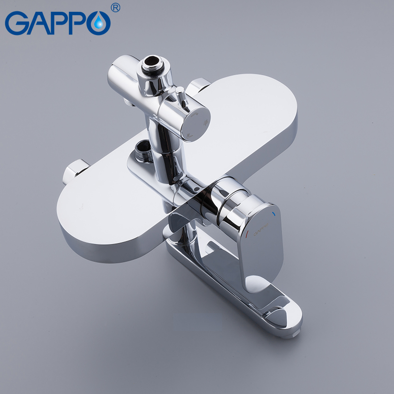 GAPPO Shower system brass and ABS shower sets bathroom rainfall mixer shower wall waterfall mixer taps griferia in Shower System from Home Improvement