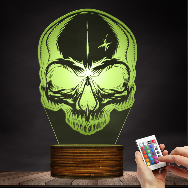 3D LED LAMP SKULL HEAD