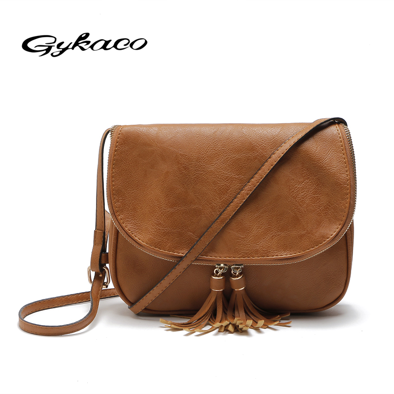 Gykaeo Brand women Bags For Women Messenger Bags High Quality Tassel leather Handbags Bag Shoulder Bag For Woman Bolsa Femininas