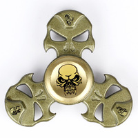 Supology Anti Stress Skull Finger Spinners Cool Fidget Spinner Metal 2017 EDC Toys Hand Spinner For