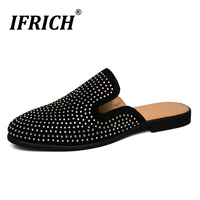 2019 Popular Casual Slip On Men Shoes Summer Half Drag Loafers Shoes Man Luxury Brand Casual Sneakers For Male Half slippers