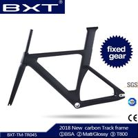 BXT 2018 новый полный трековая карбоновая рама с BSA forks зажим для сиденья T800 фиксированные передачи углеродный след велосипедная Рама используе