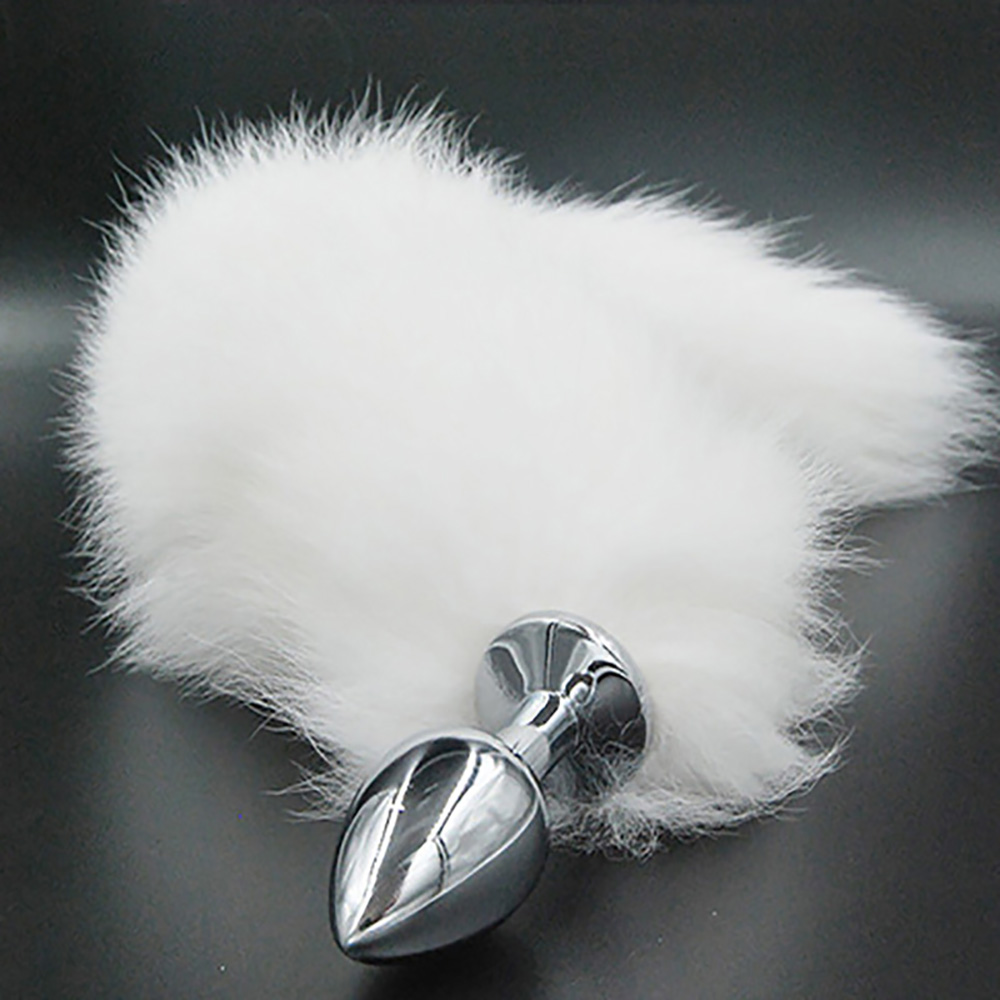 anal-piercings  Big Funny White Fox Tail Butt Plug Fox Tail Stainless Steel Anal Plug Tail  Metal Anal