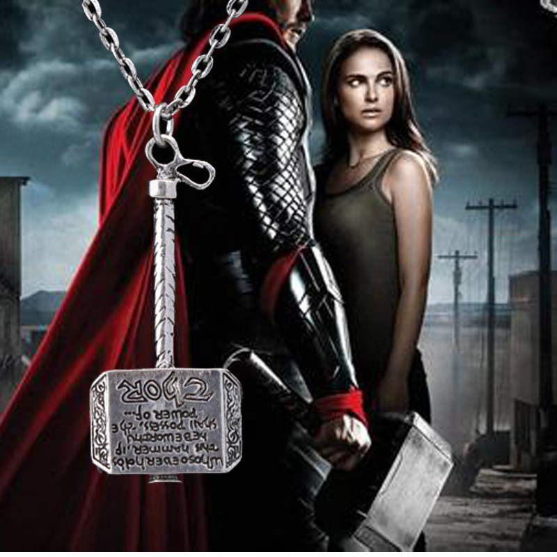 thor hammer necklace classic movie dark world exquisite