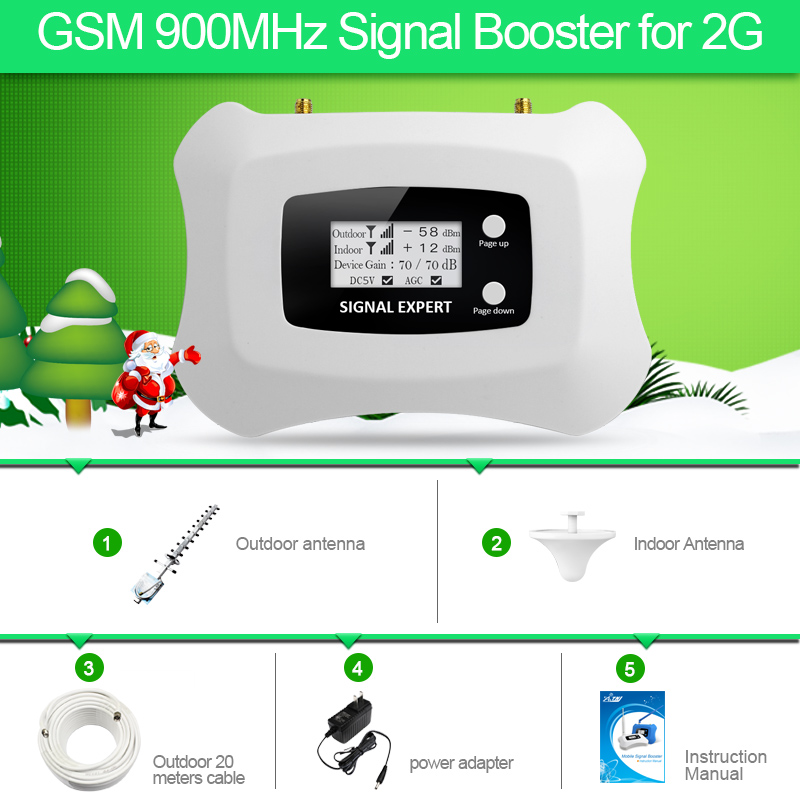 Specially For Russia GSM 2G Smart Mobile Signal Repeater With Yagi Ceiling Antenna Kit Cell Phone