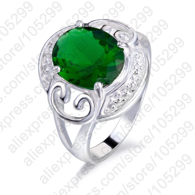 PATICO Fashion Cubic Zircon Vintage Cute Green 925 Sterling Silver Rings Jewelry Hot Selling Accessories For Women Nice