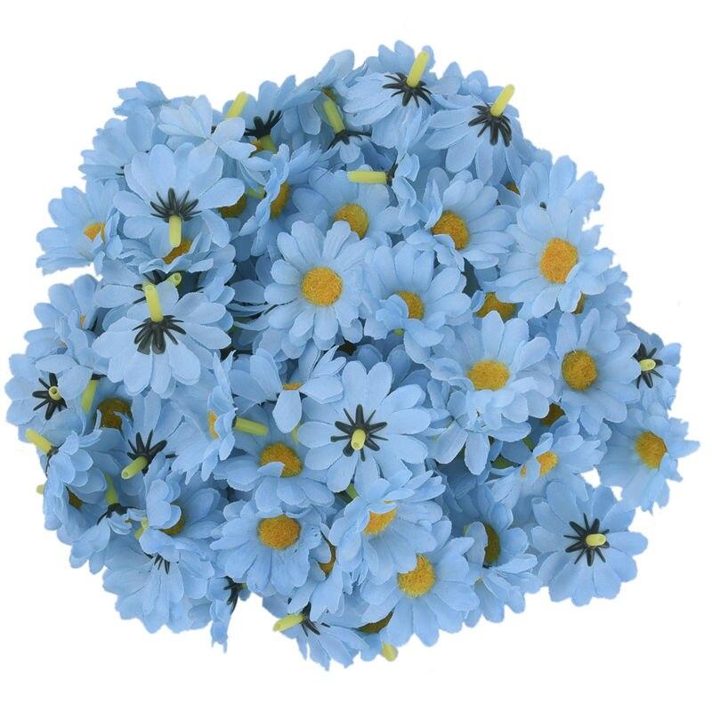 100 Unids / lote Seda Crisantemo Handmake Cabeza de Flor Artificial - Para fiestas y celebraciones - foto 2