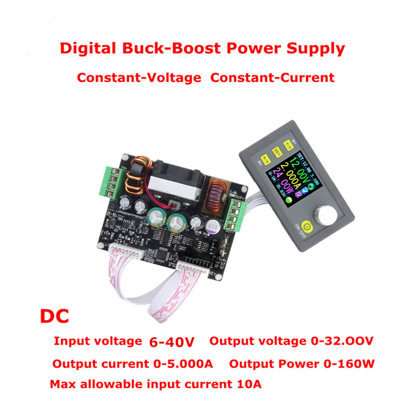 32V 5A Buck-boost Converter Constant Voltage Current Programmable Digital Control Power Supply Color LCD Voltmeter dc dc automatic buck boost constant voltage constant current module blue 5a
