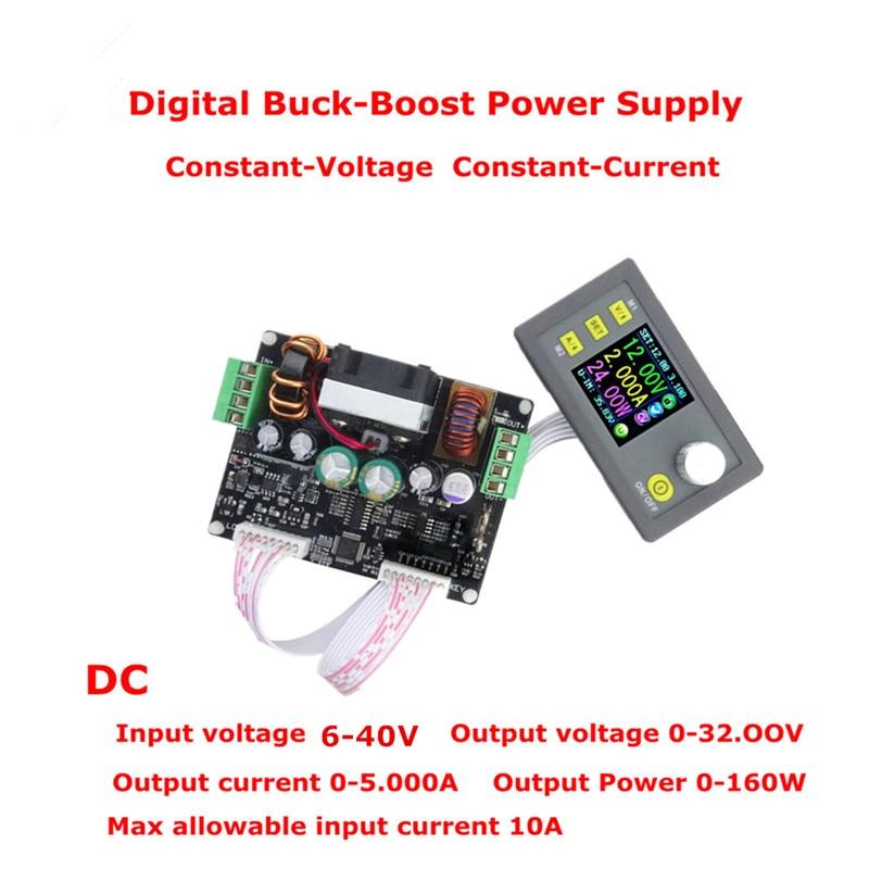 32V 5A Buck-boost Converter Constant Voltage Current Programmable Digital Control Power Supply Color LCD Voltmeter dps5005 voltage meter regulator converter adjustable programmable power supply module buck voltmeter ammeter current tester 8%