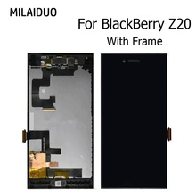 Original TFT LCD Display For Blackberry Leap Z20 IPS LCD Touch Screen Digitizer Assembly Replacement Black With Frame