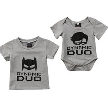 Baby Boy Cartoon Batman T Shirt 2018 Newest Baby Boy Little Brother Romper And Big Brother T-shirt Bebes Family Matching Clothes