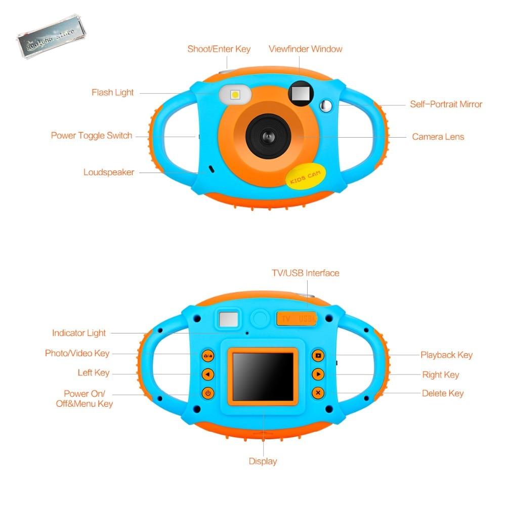 2019 upgraded lithium battery Mini Kid Cameras 5MP HD Projection Digital Camera Fotografica Digital Portable Cute Neck Child