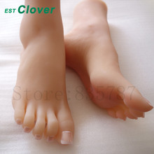Full Silicone Foot,Sex toys Female Mannequin Foot, Shoes Display 36#  C149