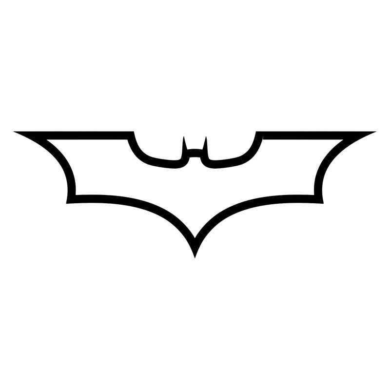 19*6.8CM Batman Logo Dark Knight Fashion Decal Car Body Car Styling Stickers Accessories Black/Silver YH-110