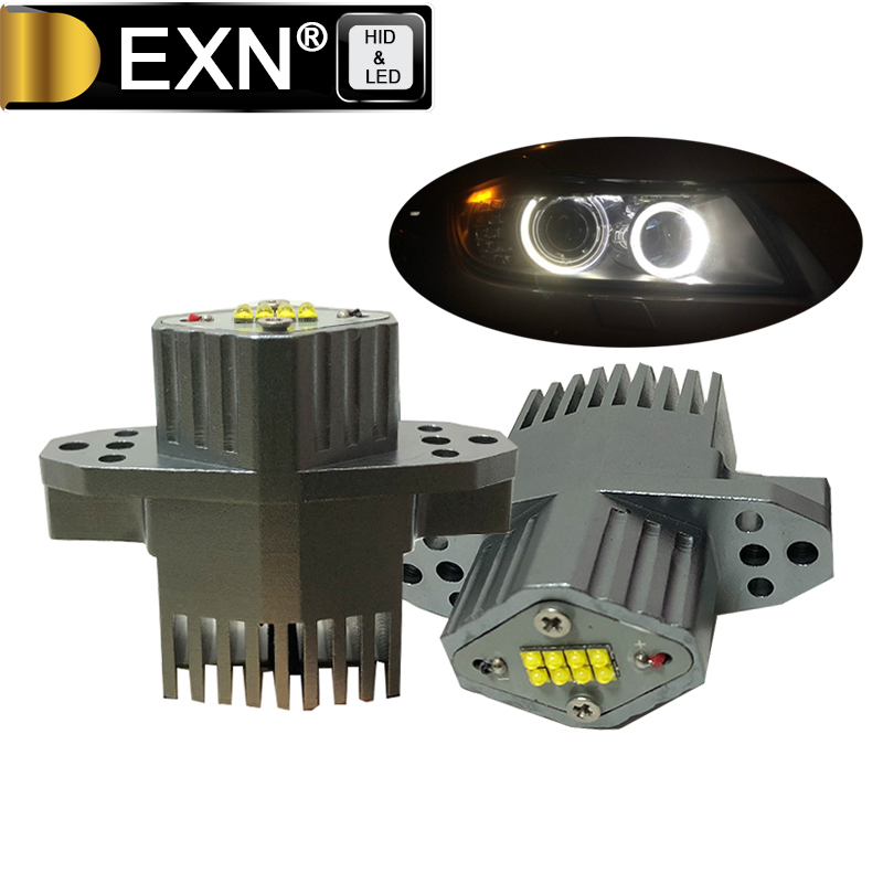 LED Marker Angel Eyes E90 LCI 80W High Power 12V LED Headlights Marker for BMW E90LCI LED Halo Rings Angel Eyes Good Quality rockeybright 12v 40w bright led marker headlight bulb for bmw e90 e90 lci 7000k white led angel eyes for bmw e90 led headlight
