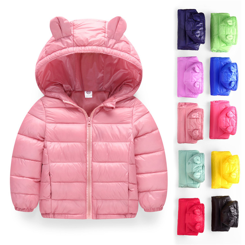 12M-6T Baby Girls Coats Cute Hooded Style Warm Kids Clothes 2018 Snow Wear Winter Outerwear&Coats Girls Down Coats Boys Clothes