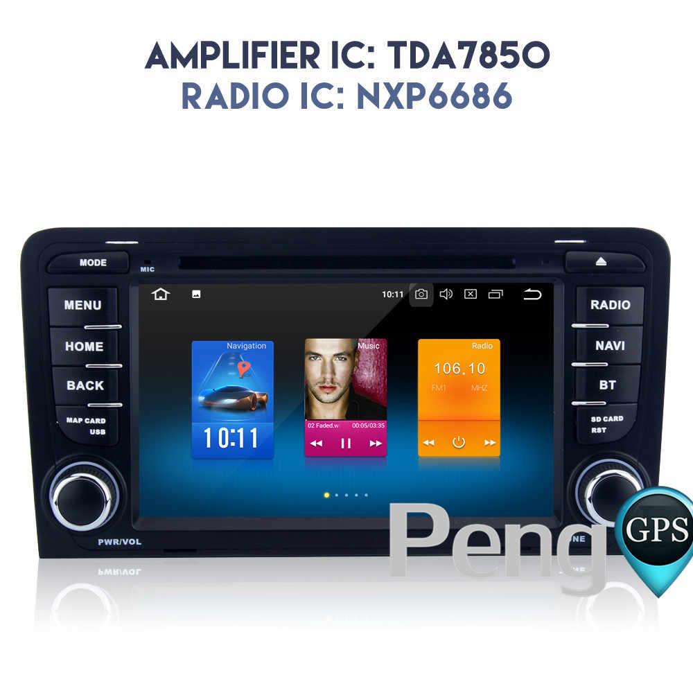 オクタコア CD DVD プレーヤー 2 Din ステレオアンドロイド 8.0 カーラジオアウディ A3 2003-2013 GPS ナビゲーション autoradio ヘッドユニット WIFI FM