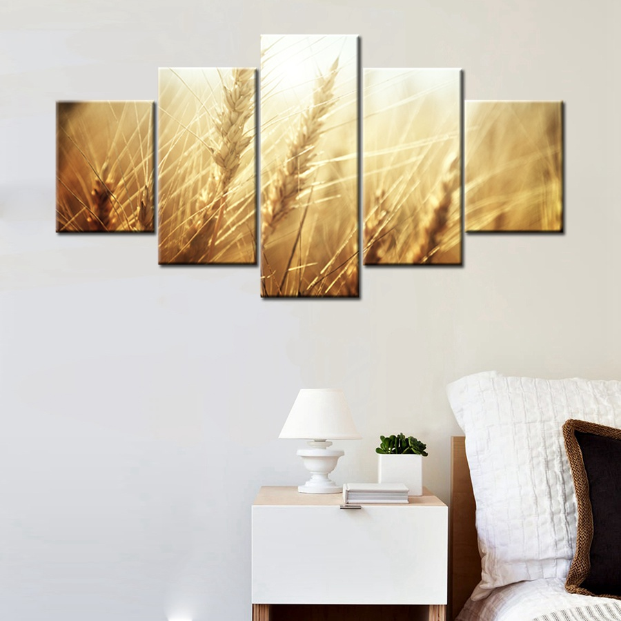 Charming Ripe Wheat Green Wheat Painting Print Canvas Modular Wall Art Home  Decor Artwork For Room Decoration Fashion Gift In Painting U0026 Calligraphy  From ...