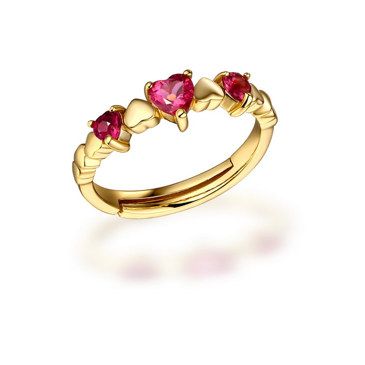 find jewelry 925 silver tourmaline heart shaped ring Ruili new listing wholesale direct women live Rhinestone