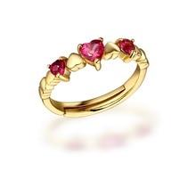 Encontrar de la joyería 925 de plata turmalina anillo en forma de corazón Ruili nueva lista directa al por mayor las mujeres viven Rhinestone Joyería del anillo de oro