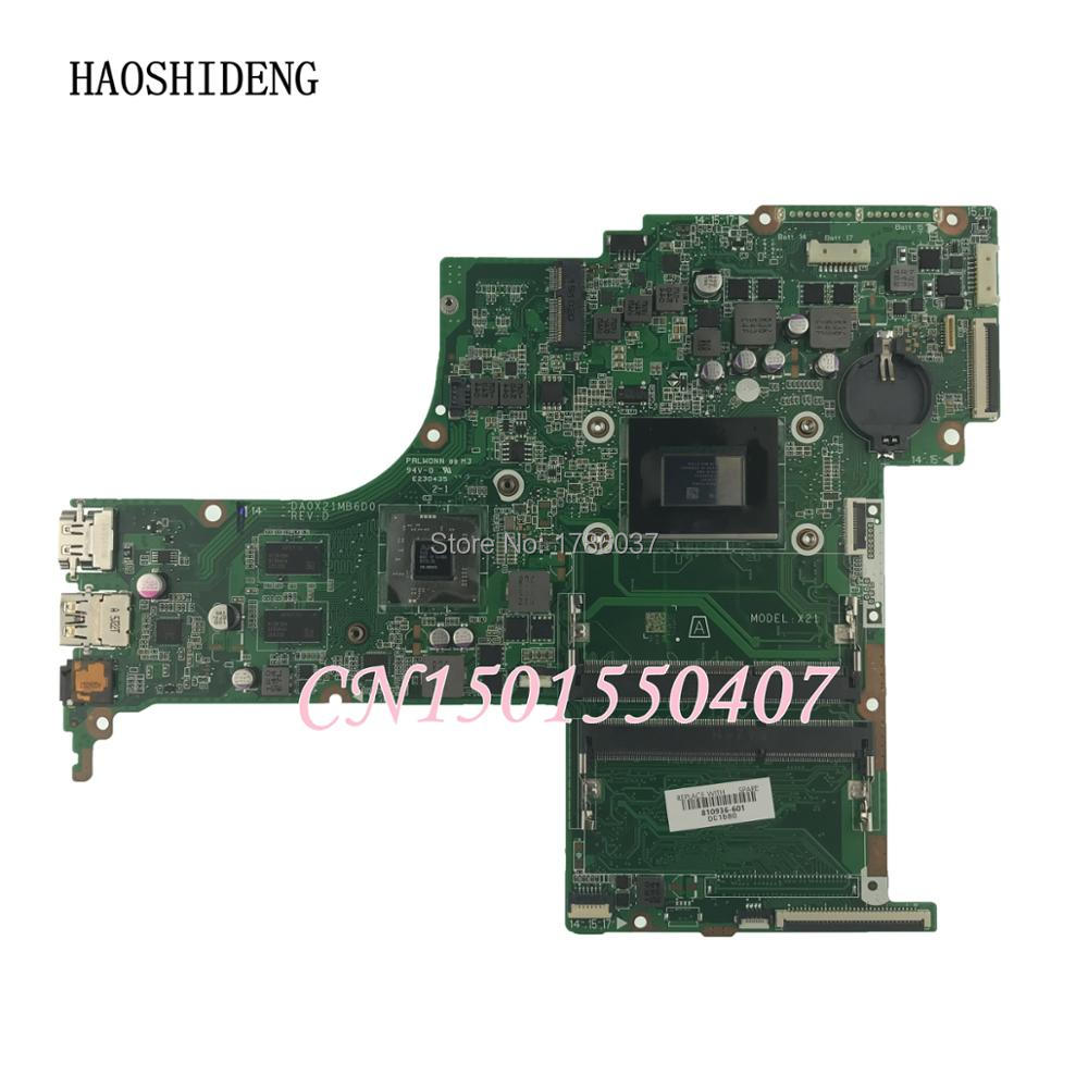 HAOSHIDENG 810936-001 810936-601 DA0X21MB6D0 X21 for HP Pavilion 17-G laptop motherboard with A10-8700P CPU.All fully Tested! haoshideng 809985 601 809985 001 laptop motherboard for hp pavilion 17 p 17z p notebook day21amb6d0 a76m a10 7300 fully tested