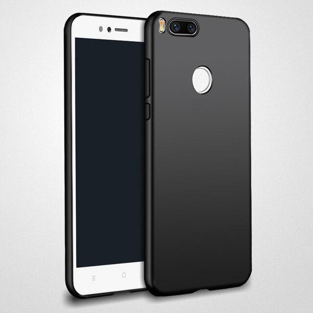 new concept 48f0f 21181 US $2.99 40% OFF|For Xiaomi mi A1 Case Matte Soft Silicon Back Cover Full  Protection TPU Gold Black Capa For Xiomi A1 Xiaomi Mi A1 Mi 5X 5.5