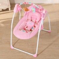 Модная детская прыгалка качели Складная портативная электрическая детское кресло качалка с музыкой безопасная детская спальная корзина