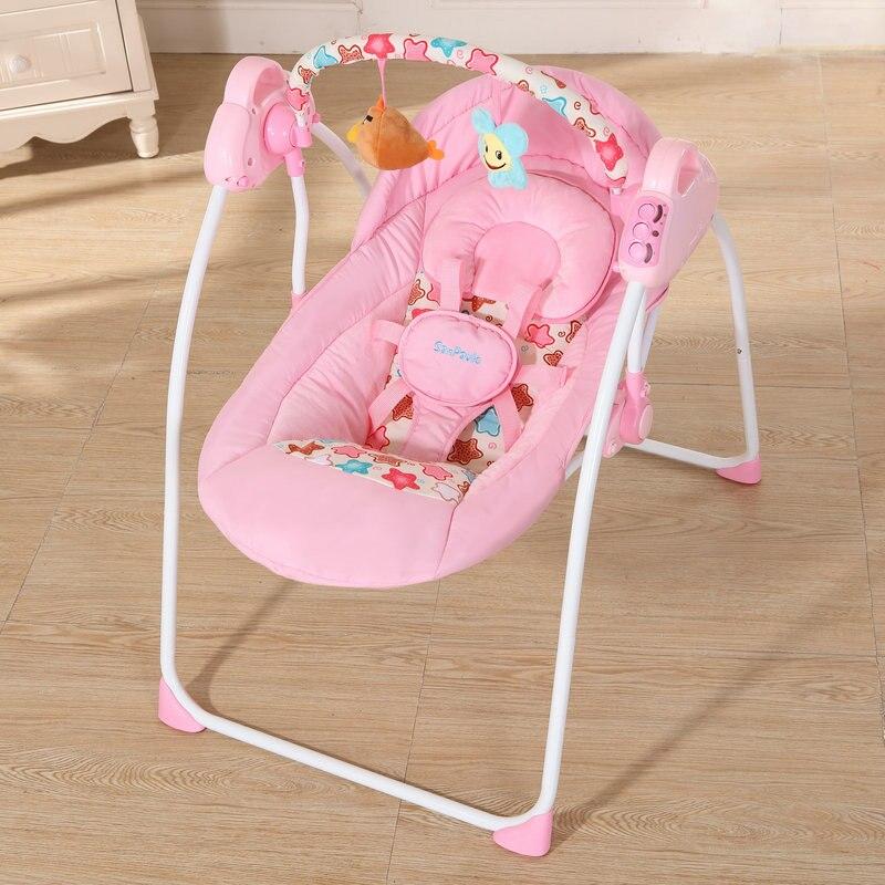 Mode bébé videurs balançoires pliable Portable électrique bébé chaise à bascule avec musique coffre-fort bébé panier de couchage