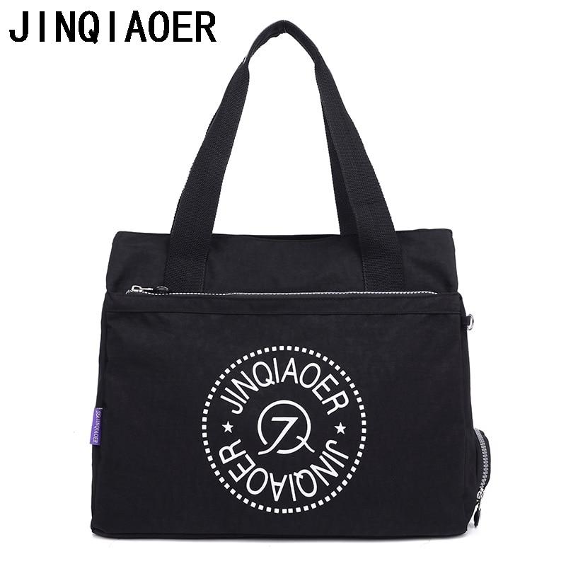 JINQIAOER найлон сутиен чанта с голям капацитет жените чанта чанта случайни Tote мода женски Crossbody чанта за дама  t