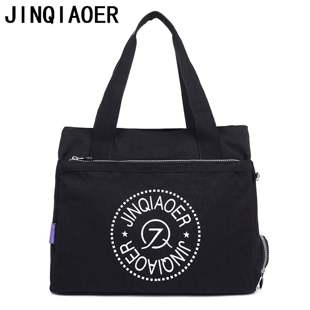 JINQIAOER Nylon Messenger Bag Large Capacity Women Shoulder Bag Handbag  Casual Tote Fashion Female Crossbody Bag For Lady f729260ead79c