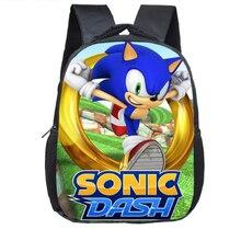 12 дюймов мультфильм Sonic зубная щётка Марио Рюкзак Bros для маленьких мальчиков и девочек Chirldrens школьные сумки для детей ясельного возраста рюкзак Infantil Mochila