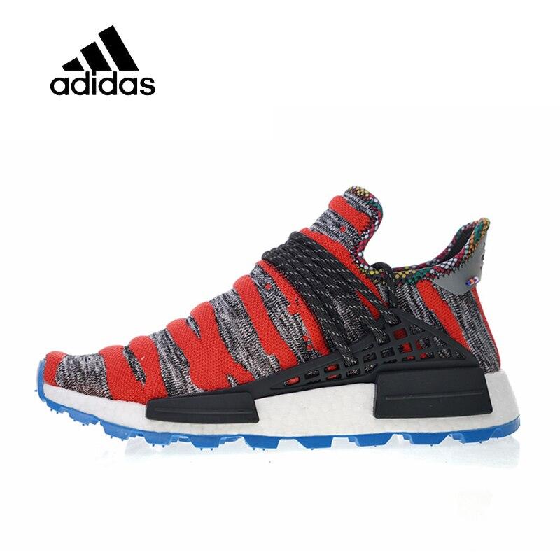 Original Adidas Authentic Men's Women's Running Shoes Pharrell Williams x Afro HU Solar Pack Sport Outdoor Sneakers UK Size U