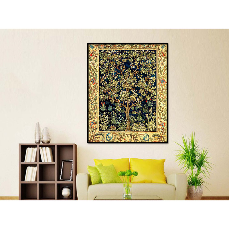 5D Diy diamond painting cross stitch Money Tree Full Round Diamond embroidery Lucky plant full Diamond Mosaic Golden flowers in Diamond Painting Cross Stitch from Home Garden